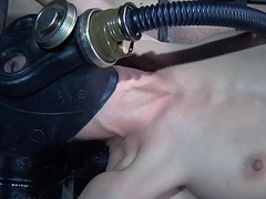 Three perverted couple tortures restrained bitch in gas muffle Elise Graves hard - Mobile Sex