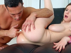 Primecups Stella Cox has big boobs together with finally gets her asshole ripped apart by
