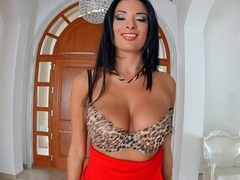 Primecups Anissa Kate has huge natural tits and gets analyzed before taking all