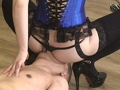 Japanese Femdom Towa face sitting and whipping