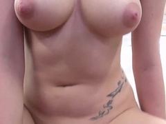 Big Titty redhead Roxy Jet-black Rides and Sucks in POV