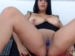 Sexy 18 year old with huge tits masturbating on cam - hotwebcamwhores.com