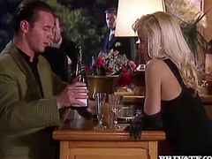 Silvia Saint Sucks a Cock at a Party Measurement Everyone Watches