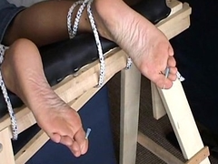 Extreme foot fetish and arms needle bdsm of mature amateur slave girl in harsh m