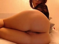 Awesome webcam show from hot brunette