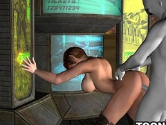 Shove around Short Haired 3D Babe Gets Fucked unconnected with an Newcomer disabuse of