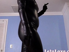 Financially dominating YOU in my leather catsuit and pawing seneschal