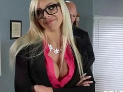 (nina elle) Unsightly Office Girl Like Permanent Style Action Bang video-24