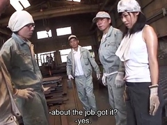 Metal workers fucking a sex specified slut