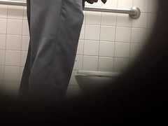 Spying pop at restroom