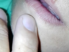 jerk inside sleeping sister mouth!she loves my cum