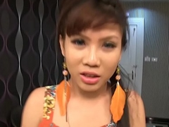 Legal age teenager Ladyboy Luktan Blowjob n Mouthful