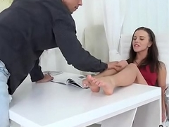 Glamorous tight nympho gets her narrowed cunt with an increment of tiny butthole railed