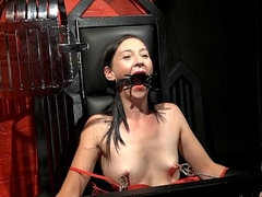 Restrained milf Lolanis amateur bdsm and tied tit tortures of suffering slavegir