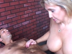 Beautiful beefy age-old spunker gives an amazing sloppy blowjob