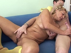 Young Souled Granny Sucking And Bonking Hard Load of shit